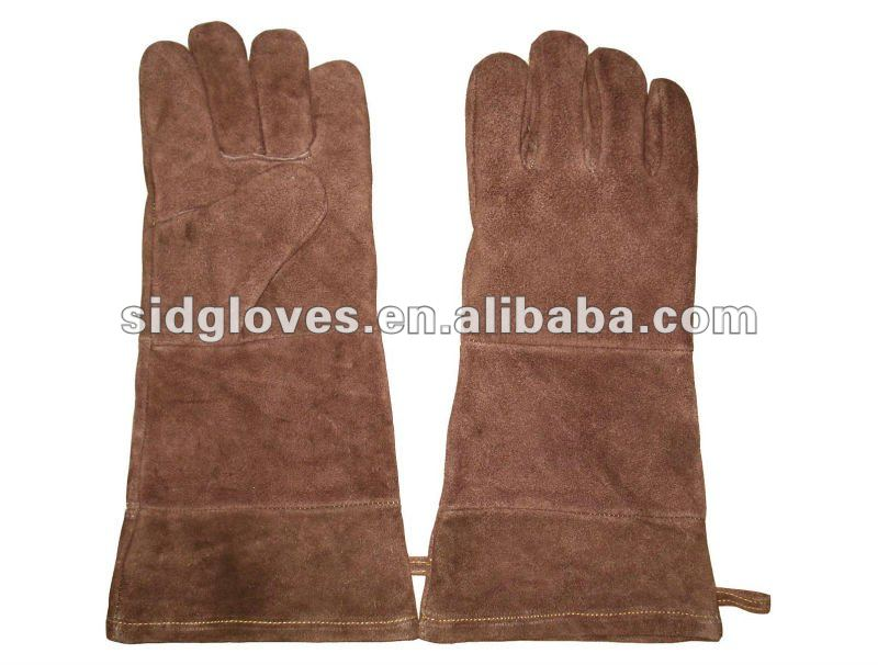 Long-cuff cow Leather BBQ Gloves 5326