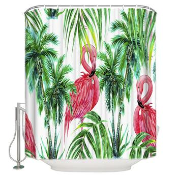 Flamingo Printing Eco-Friend High Quality Bathroom Peva Shower Curtain