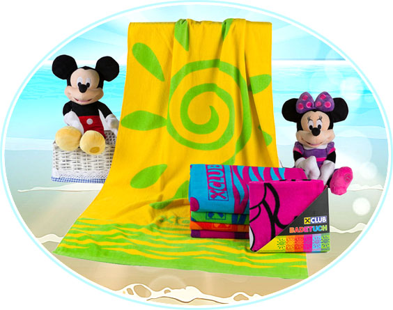 2019 textile hot sale kids cotton beach towel for fabric