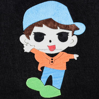 Cool boy with sunglass hotfix motif heat transfer vinyl for t-shirt