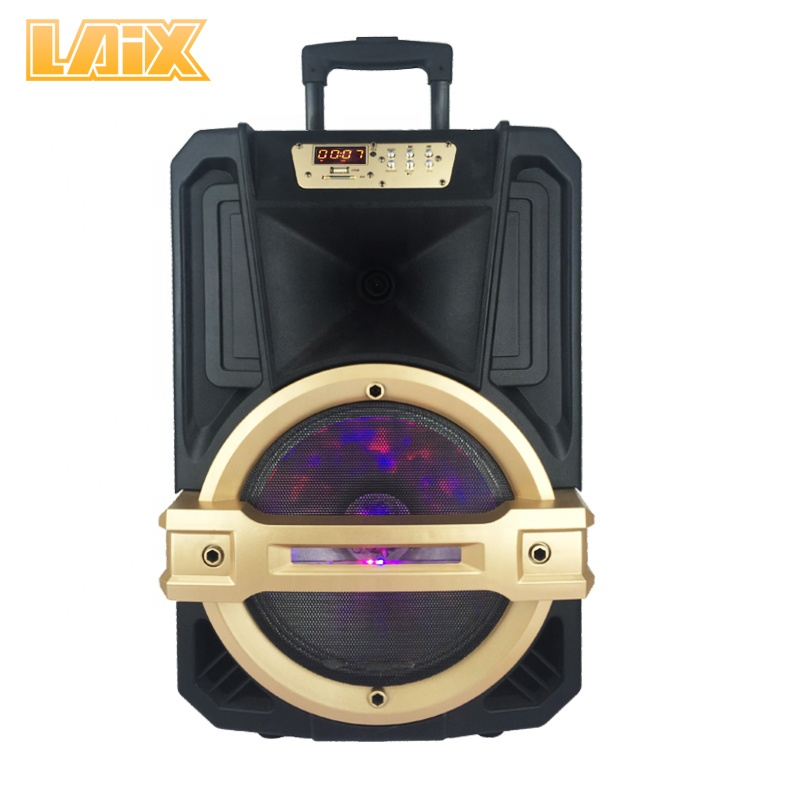 Laix SP-A40 Wooden Home Party Class AB Class <strong>D</strong> Speaker with Screen, Bass with Color Light, Nice Appearance and Good Sound