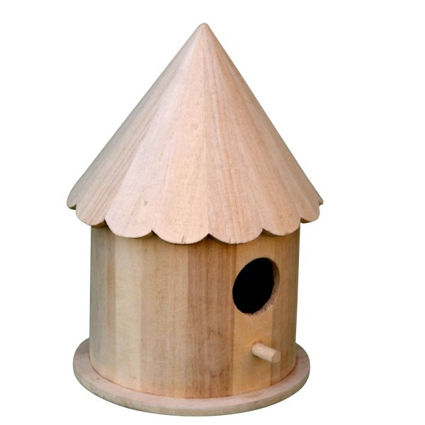 Small Wood Crafts Small Bird House, Unfinished Wooden Bird House