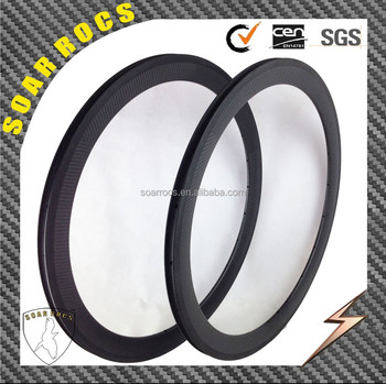 SoarRocs 50mm depth 20.5mm wide custom 3k twill 700c carbon clincher rims