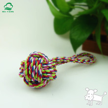 New arrival durable rope tug fetch ball chew pet dog toy