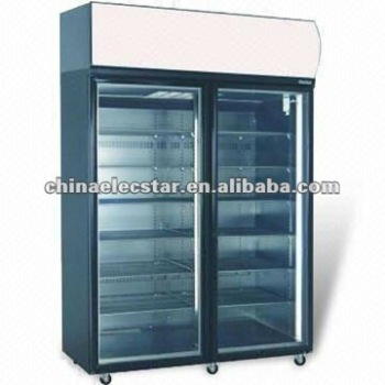 2-swing Door Freezer with Fully Removable Refrigeration Deck and CFC-free Polyurethane Insulation
