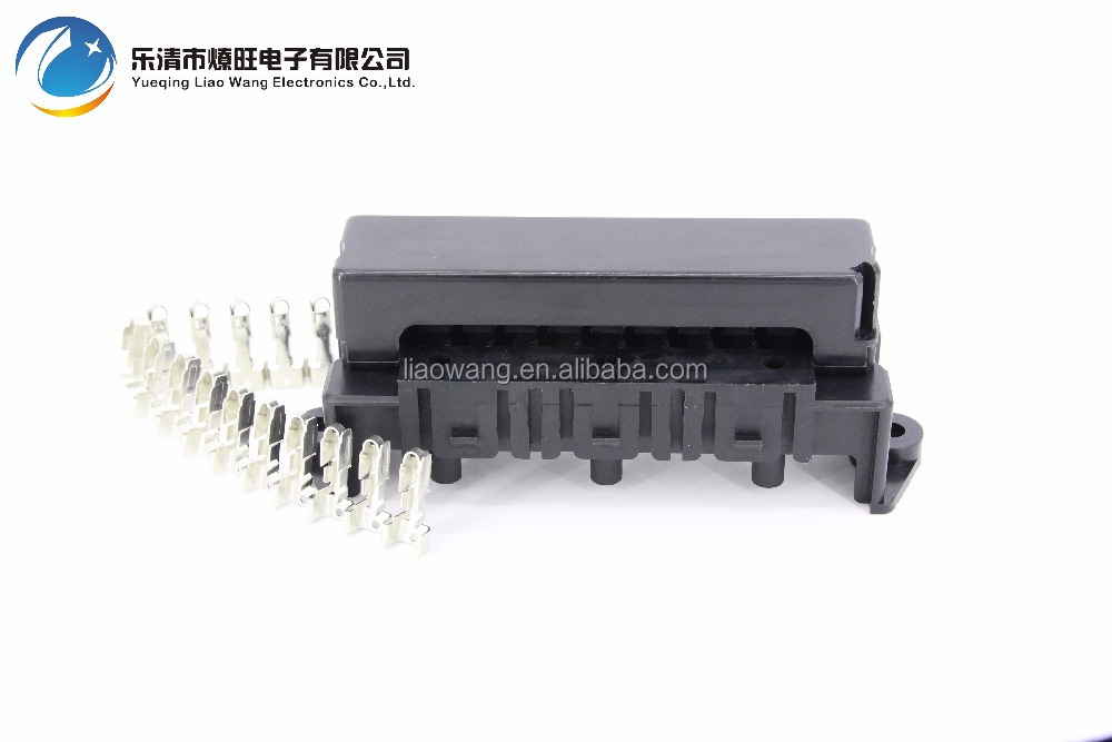 10 Way Auto fuse box assembly With terminals and 3PCS Relay seats Dustproof fuse box fuse box mounting fuse box