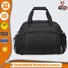 fashion outdoor polyester wholesale high quality cheap price custom black gym duffle bag