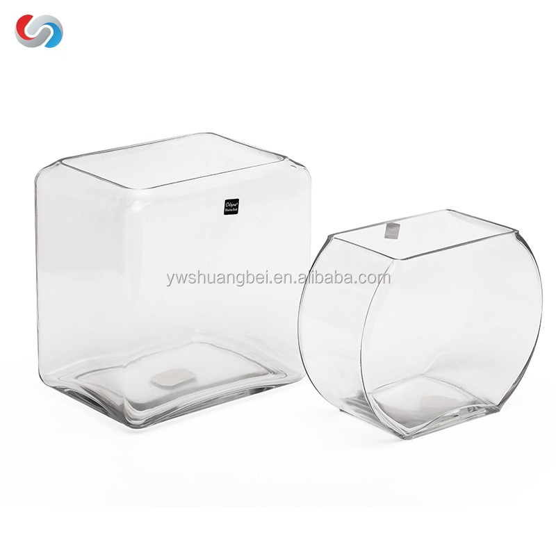Clear Rectangle fish tank square glass Bowl Round Aquariums for promotion gift