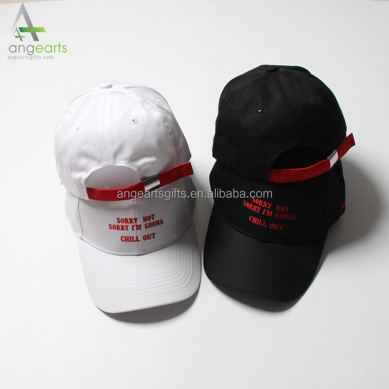 Ladies' white color summer hat fashion hat with embrodery plain blank dad cap/hat for women