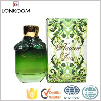 new fashion gree bottle women perfume flower love perfume