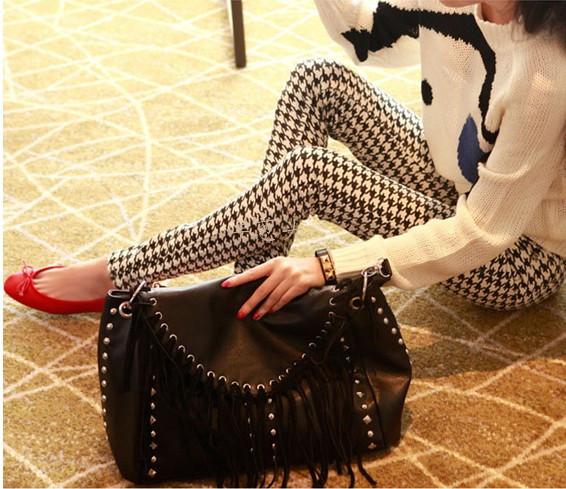 Leggings - Houndstooth design