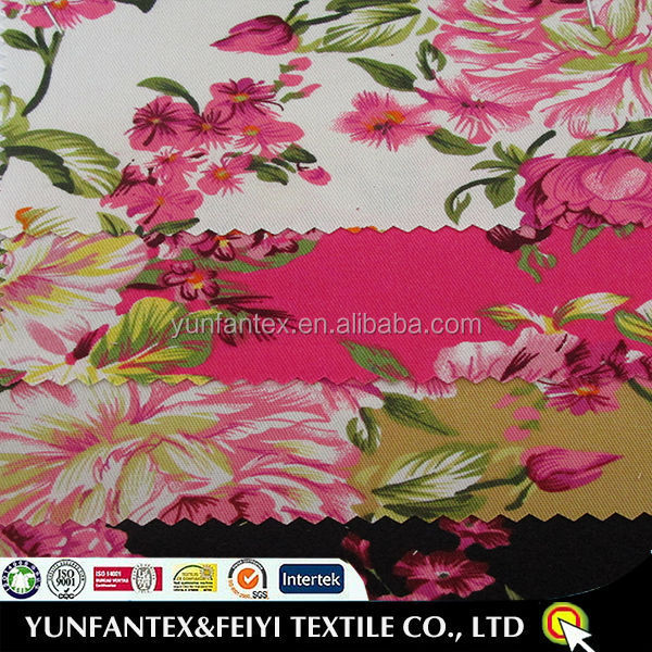 2016 Plain Woven <strong>China</strong> Printed <strong>100</strong> cotton TWILL Printed Flower Fabric