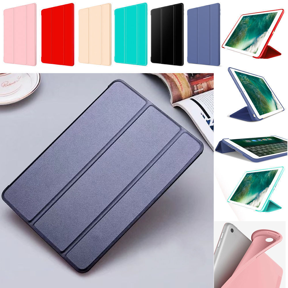 Leather Smart Cover Soft TPU Silicone Back Case For iPad Pro 10.5 9.7 Mini Air2