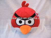 OEM Wholesale Anime red birds Animal Toys Plush Doll with Cupule
