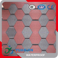 High quality mosaic 3-tab asphalt roof tiles sales