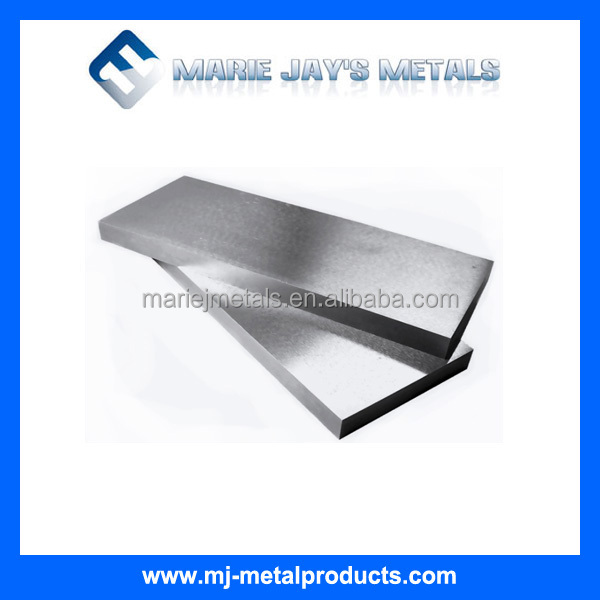Tungsten plates with High Melting Point / High Density / Low Vapor Pressure