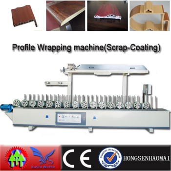 Edge frame profile wrapping machine use cold glue