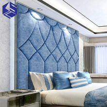 Wholesale hand made wall panels luxury leather wall tile for bedroom