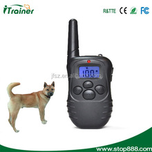 Rechargeable and Rainproof 330yd Remote Dog Training Shock Collar with Safe Beep, Vibration and Shock Electronic Electric Collar