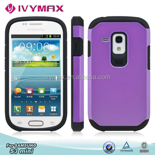 2015 PC+TPU mobile phone cover for samsung s3 mini i8190 slim armor combo case