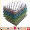 100% polyester super soft velboa micro plush embossed Minky Cuddle Dimple Dot