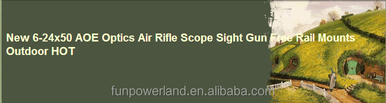 New 6-24x50 AOE Optics Air Rifle Scope Sight Gun Free Rail Mounts Outdoor HOT