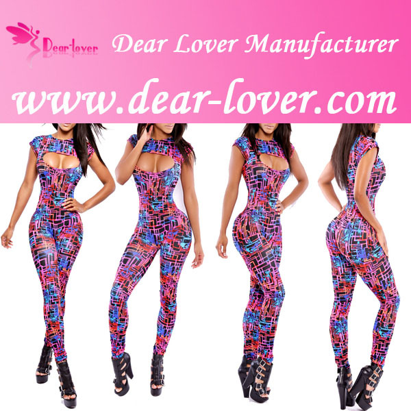 2014 Print Exaggerated Flounced Playsuit Romper Jumpsuit alibaba express women clothing
