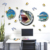 New Removable 3D window wall stickers shark custom wall sticker for living room decor 3d wall stickers