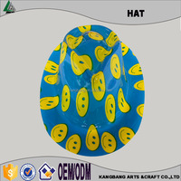 High Quality Cheap Plastic Clown Hats Fashion Colorful Promotional Plastic Smile Face Derby Hats for Carnival Party Decoration