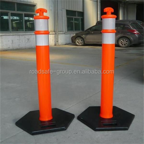 Highway safety flexible delineator post warning guide post