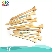 Wholesale Promotion Flexible Durable 83mm Customize Wooden Golf Tee