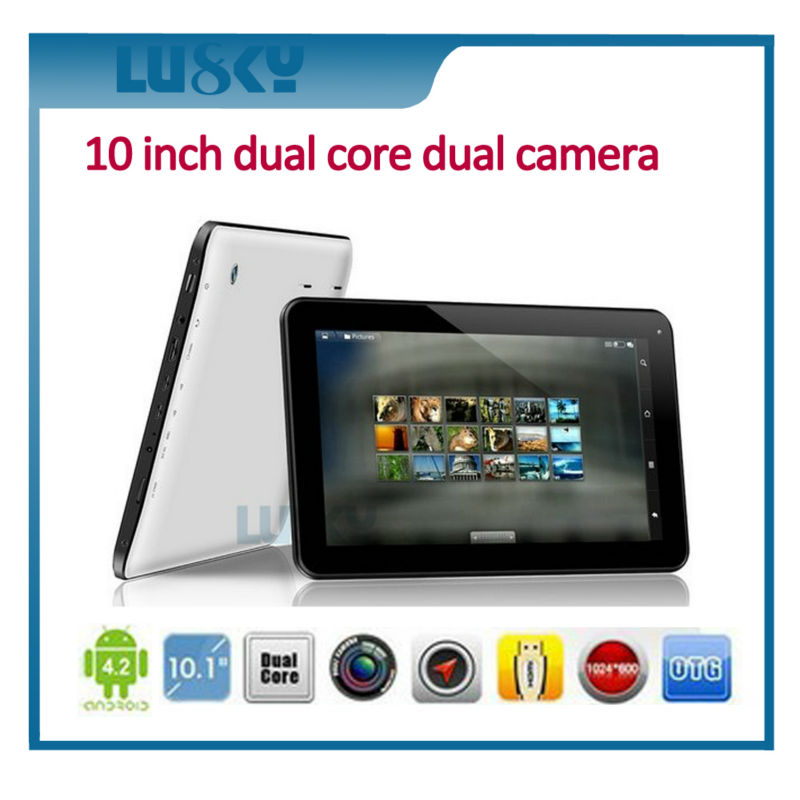 big size tablet 10.1 inch dual core tablet pc android 4.4 os tablet pc 1024*600