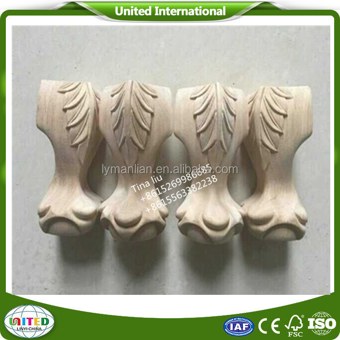 Imperfective wooden leg with carved onlay / kitchen cabinet crown moulding