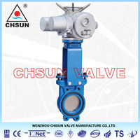 Mining Slag Electric Actuated API Cast Iron Knife Gate Valve