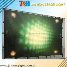 led video cloth/led vision curtain video curtain led stage lighting