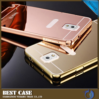 wholesale price for samsung galaxy note 3 n9000 mirror back cover metal frame case