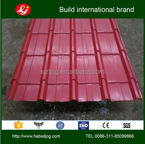 2013 high quality colored zinc corrugated plate for roofing tile YX28-210-840