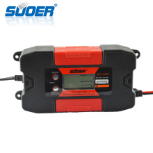 Suoer 25V 6A Lithium Smart Auto Portable Car Battery Charger With LCD Display