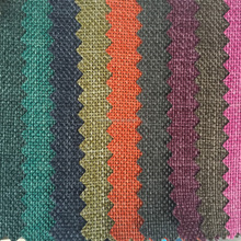 Wholesale 100 polyester woven hemp fabric style