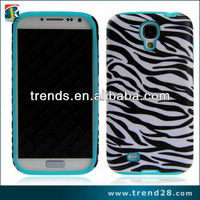 China manufacturer 2 layer shockproof design hard pc and soft silicon case for samsung galaxy S4(i9500)