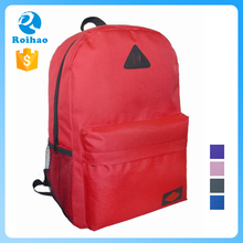 Roihao simple lightweight 600D school backpacks used, oem customized backpack