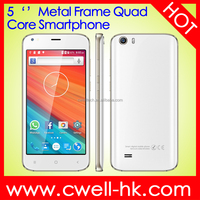 Hot Sale Kimfly M5 CNC Metal Frame 5.0 Inch SC7731C Quad Core 3G Unlocked China Mobile Phone Android Smartphone