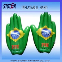 green cheer hand , inflatable hand with country flag