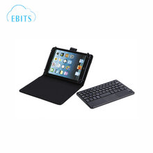 New product Bluetooth Wireless Keyboard Leather Smart Case with Touchpad for 7 Inch and 8 Inch Tablet PC including Samsung