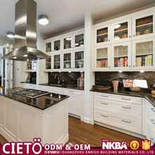 China prefab new model Easy fitted Customize Hotel Modular Storage MDF Commercial Kitchen Cabinet