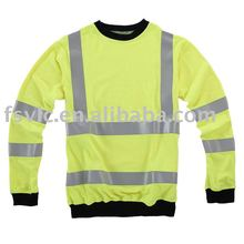 Modacrylic flame retardant sweat shirt with reflective tapes