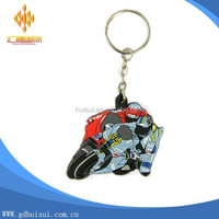 custom 2d custom shaped soft pvc motorcycle keychain