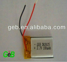 GEB 3.7V Rechargeable Lithium Polymer Lipo Battery 180mAh 502025