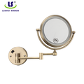 round wall double metal backlight bath mirror