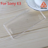 Plastic flip cover mobile phone leather case company for Sony E3